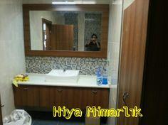 Taş lavabo membran banyo dolabı #hiyamimarlik