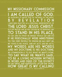 I am called of God