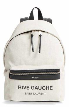 78818938d4c7 Saint Laurent City Mini Rive Gauche Backpack Stylish Backpacks, Backpack  Online, Rive Gauche,