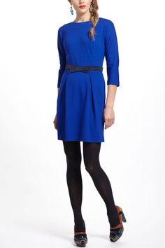 Pleated Ponte Dress - Anthropologie.com