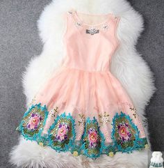 Spring And Summer High- Beaded Embroidery Princess Dress – Tepayi