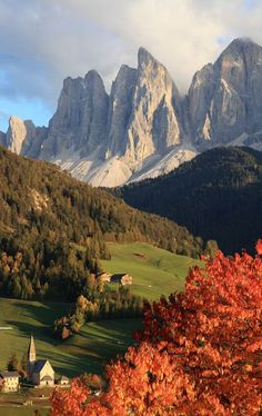 Mountain Village, The Dolomites, Italy