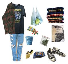 """highschool movie series:THE BURNOUT"" by twyzter ❤ liked on Polyvore featuring Converse, Plane, Revol and Zippo"