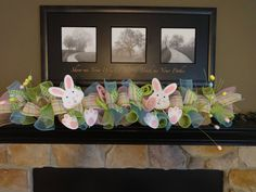 Your place to buy and sell all things handmade Easter Garland, Easter Decoration, Spring Garland, De Fireplace Garland, Fireplace Decorations, Easter Garland, Easter Decor, Easter Ideas, Deco Mesh Garland, Diy Girlande, Easter Season, Garland Wedding