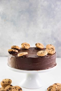 Cookie Monster Cheesecake - Coat the cake in a thin layer of ganache to complete the look. Serve it chilled.