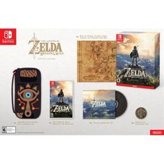 The Legend of Zelda: Breath of the Wild Special Edition, Nintendo, Nintendo Switch, 045496590369 Nintendo Switch Pokemon Games, Buy Nintendo Switch, Calamity Ganon, Legend Of Zelda Breath, Breath Of The Wild, Christmas Toys, Online Gifts, Breathe, Pikachu
