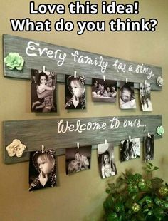 Family photo pallet display