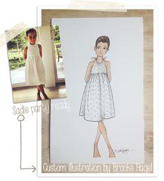 Kid Custom Fashion Illustration by Brooke Hagel. (@Samantha Yanks daughter Sadie)
