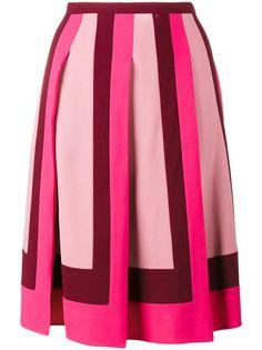 Valentino pleated crepe skirt