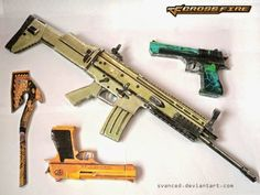 Crossfire Papercraft Weapons Assortment Paper Art, Paper Crafts, Crossfire, Paper Models, Firearms, Pop Culture, Weapons, Guns, Scenery