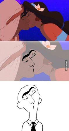 Aladin's weird kiss!!