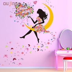 2.63$  Watch here - http://www.goodshopping.top/redirect/product/os7kwd3e8e8pp1lhxj69gfex60npcmun/32706929554/en - OUJING New Butterfly Flower Fairy Wall stickers for girls kids Bedroom Room u6802 DROP SHIP   #aliexpresschina