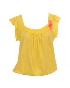 Μπλούζα σε κίτρινο χρώμα.