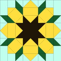 Posts about Sunflower Quilt Block written by Elizabeth E. Quilt Square Patterns, Barn Quilt Patterns, Square Quilt, Pattern Blocks, Sunflower Quilts, Sunflower Pattern, Barn Quilt Designs, Quilting Designs, Painted Barn Quilts