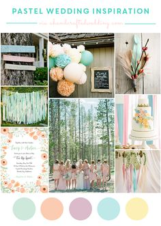Pastel Wedding Ideas - Ways to incorporate pastels into your vintage, whimsical, rustic or traditional wedding. MountainModernLife.com