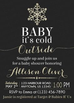 Baby It's Cold Outside Baby Shower Invitation by ZoeyBlueDesigns