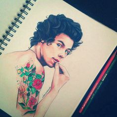 Harry Styles man I wish I could draw like this