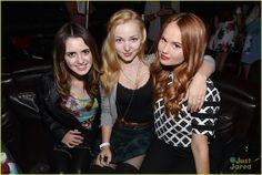 Laura Marano, Dove Cameron, and Debby Ryan at Katy Perry concert!