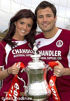 United front: Mark Wright and together as they promote Chelmsford City's FA Cup match last month and, right, Mark's ex Lauren Goodger 21 december 2010
