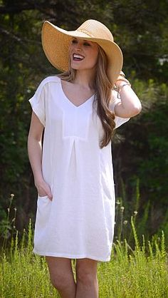 Less is More Frock, Ivory / White :: NEW ARRIVALS :: The Blue Door Boutique