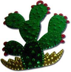 Mexican Tin Christmas Ornament - Cactus Nopal - My Mercado Mexican Imports