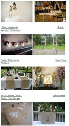Country Wedding Decorations - Rustic Wedding Decor and Photos for your Rustic Country Wedding