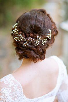 Vid de novia tocado de novia boda de pelo pedazo de boda vid