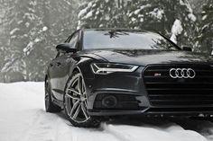 Audi S6 on snow