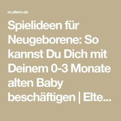 Spielideen für Neugeborene: So kannst Du Dich mit Deinem 0-3 Monate alten Baby beschäftigen   Eltern.de