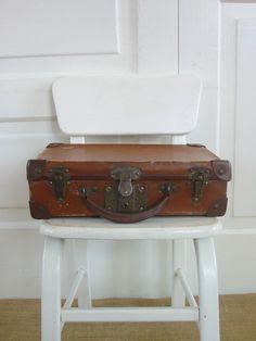 Vintage Case Suitcase Brown Industrial by vintagejane on Etsy