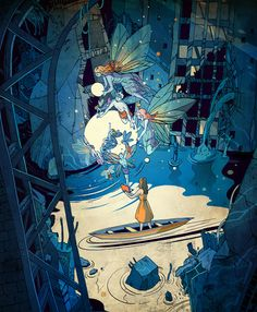 Spellbound Victo Ngai For a article in Dension magazine about Fairy Tales and the changing nature of how these stories are told — from Grimm's tales, to the super-scrubbed happy Disney tales through to the darker popularity of shows like Breaking Bad now. Fairy tale expert Maria Tatar also discusses how some of the world's oldest tales help us navigate modern life. Big thanks to Erin from Em Dash for this very interesting project!