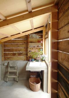 Announcing Our New Guide to Garden Shed Design - Gardenista Mini Loft, Cheap Sheds, Firewood Shed, Wooden Sheds, Potting Sheds, Shed Design, Cabin Design, Garden Design, Outdoor Sheds