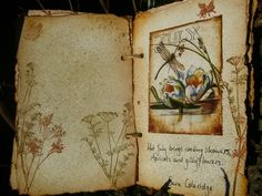The Year in Poetry handmade book by Alison Bomber #nature #mixed_media #journals