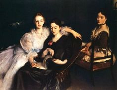 John Singer Sargent - The Misses Vickers. One of my favorite portraits of sisters.