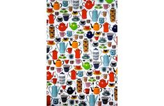 vintage tea & coffee pots wrapping paper