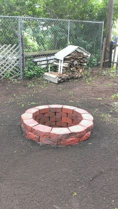 Fire pit, I put tree stumps around mine...perfect for sitting by the fire--roasting marshmallows