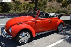 Beautiful 1972 Beetle Convertible