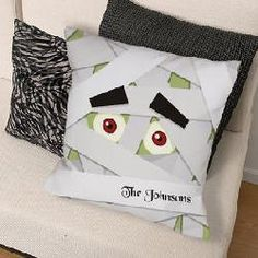 Personalized Mummy Throw Pillow