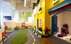 Kiddies Cafe Best children's indoor play area and birthday party venue in JLT Dubai, UAE Kids Play Area Indoor, Indoor Playroom, Kids Indoor Playground, Playground Ideas, Indoor Bounce House, Daycare Design, Creative Kids Rooms, Kid Spaces, Play Houses