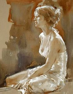 Artist: Paul Hedley {figurative woman painting}