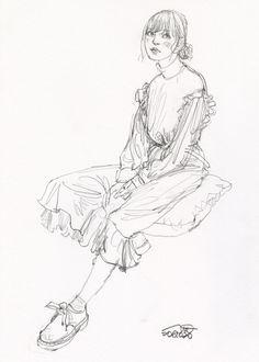 Drawing Sketches, Pencil Drawings, Art Drawings, Drawing Ideas, Art Reference Poses, Drawing Reference, Arte Fashion, Fashion Design, Pretty Art