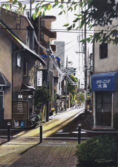 54 Ideas Landscaping Building Drawing For 2019 Building Drawing, Japan Street, Japanese Streets, Fantasy Landscape, Anime Scenery, Architecture, Land Scape, Concept Art, Beautiful Places