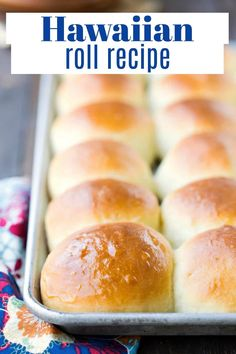 Make your own copycat version of Hawaiian Rolls at home with this easy, made-from-scratch recipe that makes soft and fluffy Hawaiian sweet rolls! Healthy Bread Recipes, Yeast Bread Recipes, Cooking Recipes, Muffin Recipes, Eat Healthy, Cooking Ideas, Sweet Roll Recipe, Hawaiian Sweet Rolls, Retro Recipes