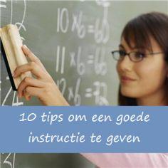 10 tips voor een goede instructie | Klas van juf Linda