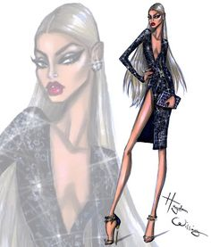 Hayden Williams Fashion Illustrations: Glam Night Out: 'Caviar' by Hayden Williams