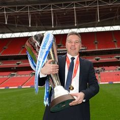 The ninth edition of the Johnstone's Paint Trophy will get off to a thrilling start after the first round draw threw up several mouth-watering clashes. #JPT #Football #FootballLeague (Peterborough United manager Darren Ferguson with the Johnstone's Paint Trophy)