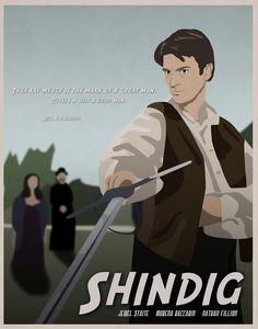 Shindig - Firefly Illustrated Poster. $12.00, via Etsy.