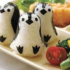 Sushi penguins... Check the rest of the post out for pandas in curry, a marshmallow cat and many more insanely brilliant things