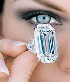 Lets Buy Fine Jewelry Graff Jewelry- Ice Blue Diamond - so beautifully clear....visit us at: http://letsbuyjewelry.com