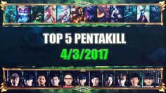 TOP 5 PENTAKILL OF THE DAY (4/3/2017) [Level 6] https://www.youtube.com/watch?v=RSHD_mtB5gM #games #LeagueOfLegends #esports #lol #riot #Worlds #gaming